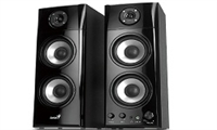 Genius SP-HF1800A 50 Watts Three-way Hi-Fi Wood Speakers